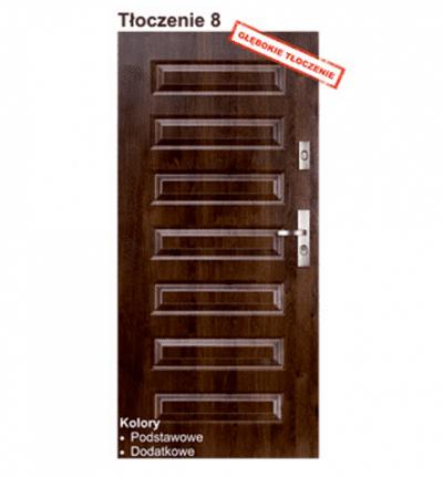 """Двери входные KMT Standard 55 """"Тиснение 8"""""""