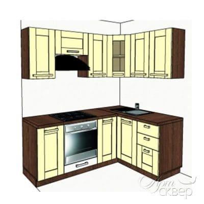 """Кухня """"Вестфалия"""" угловая 2х1,4 м.п. из массива сосны"""