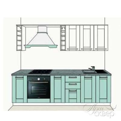 """Кухня """"Вестфалия"""" 2,6 м.п. из массива сосны"""