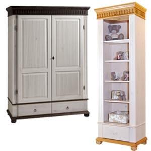 Шкафы для одежды из сосны