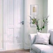 м15 дверь межкомнатная ПМЦ глухая белая эмаль