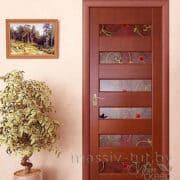 м18 межкомнатная дверь ПМЦ остекленная