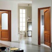 м4 дверь межкомнатная ПМЦ в интерьере коньяк