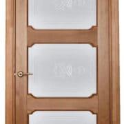 м7-3 дверь остекленная ПМЦ коньяк