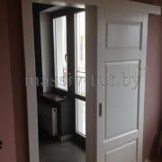 массив ольхи Ол55 раздвижная дверь белая эмаль ПМЦ
