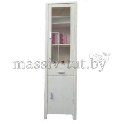 """Шкаф-витрина """"Мадейра"""" Д6162 из массива сосны"""