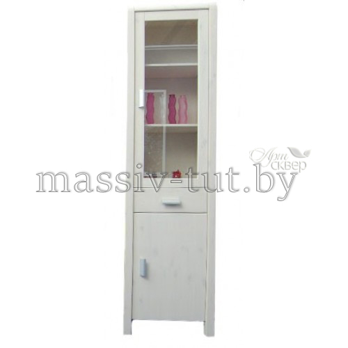 Витрина Мадейра Д6162, АртСквер, массив, мебель