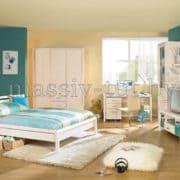 Стол письменный Мадейра Д4150, АртСквер, массив, мебель 4