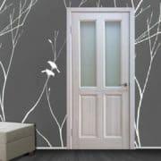 м15 дверь межкомнатная ПМЦ остекленная в интерьере