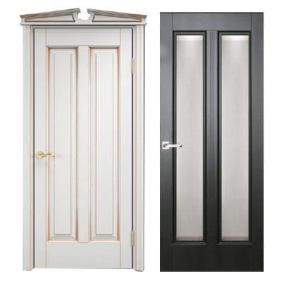 Dual дверь из массива сосны