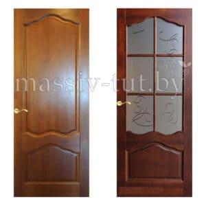 М1 дверь из массива сосны Поставский Мебельный Центр ПМЦ