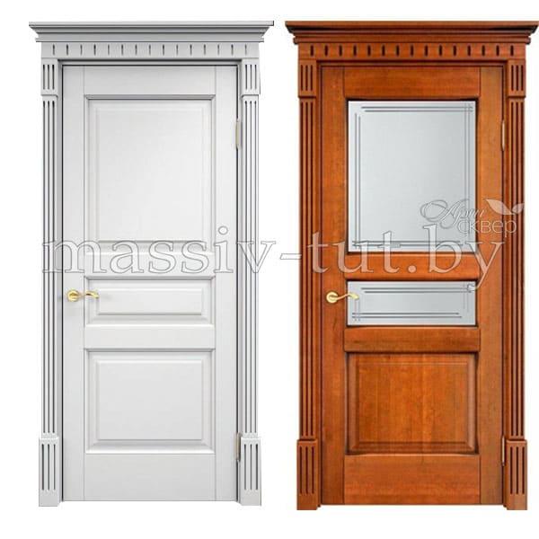 Ол5 дверь из массива ольхи Поставский Мебельный Центр ПМЦ