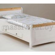 Кровать Мальта 100 с ящиком, АртСквер, массив, мебель  1