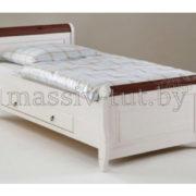 Кровать Мальта 100 с ящиком, АртСквер, массив, мебель  2