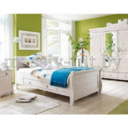 Кровать Мальта 100 с ящиком, АртСквер, массив, мебель  3