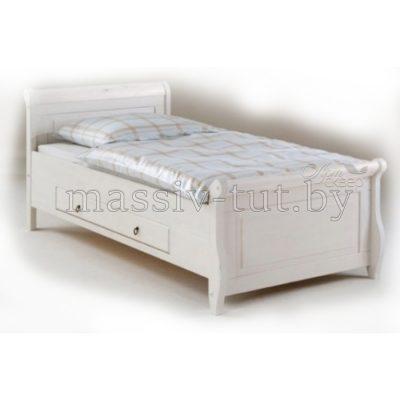 """Кровать """"Мальта"""" 100*200 с ящиком из массива сосны"""