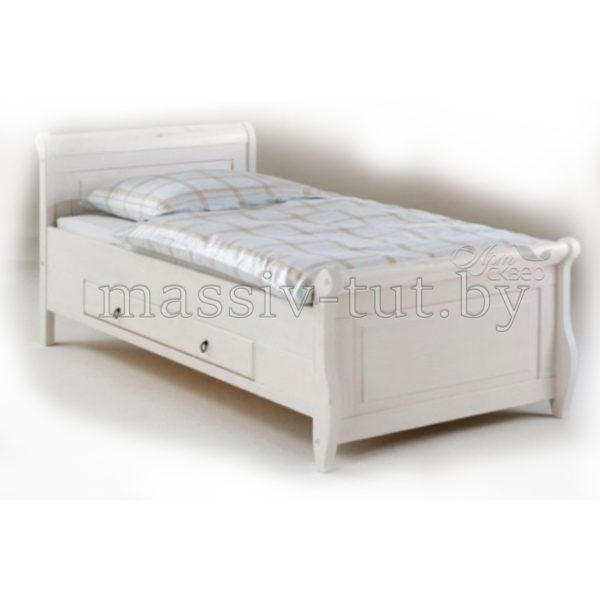 Кровать Мальта 100 с ящиком, АртСквер, массив, мебель