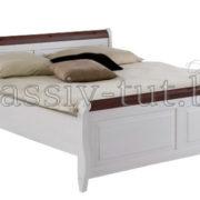 Кровать Мальта 140 без ящика, АртСквер, массив, мебель  1