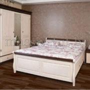 Кровать Мальта 140 без ящика, АртСквер, массив, мебель  2