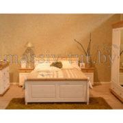 Кровать Мальта 140 без ящика, АртСквер, массив, мебель  4