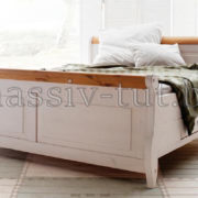 Кровать Мальта 140 с ящиками, АртСквер, массив, мебель 1