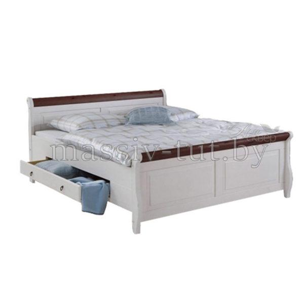 Кровать Мальта 140 с ящиками, АртСквер, массив, мебель