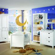 Кровать детская Сиело 77300, АртСквер, массив, мебель 1