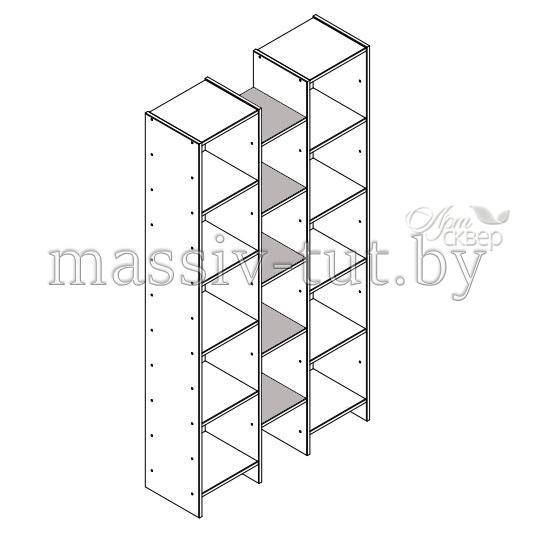 Полка прямая  Комби Д3405-2, АртСквер, массив, мебель