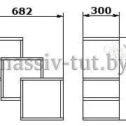 Полка-5 Д3403, АртСквер, массив, мебель 1
