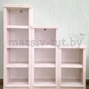 Стеллаж Д7178-3, АртСквер, массив сосны, мебель 1