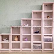 Стеллаж Д7178-4, АртСквер, массив сосны, мебель 2