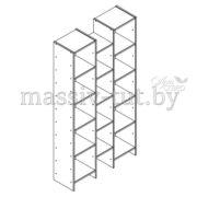 Стеллаж Комби Д3405-1, АртСквер, массив, мебель 2