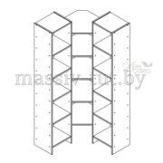 Стеллаж Комби Д3405-1, АртСквер, массив, мебель 3