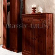 Шкаф Индра Д6155, АртСквер, массив, мебель 1