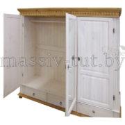 Шкаф Хельсинки 3SP, SPGT, АртСквер, массив, мебель  2