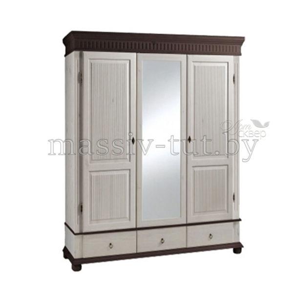 Шкаф Хельсинки 3SP, SPGT, АртСквер, массив, мебель