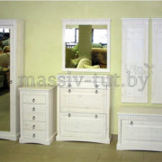 Шкаф для обуви  Неаполь Д 7111-05, АртСквер, массив, мебель 2