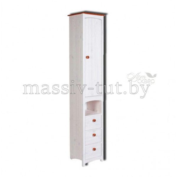 Шкаф-пенал Паула Д1138, АртСквер, массив, мебель