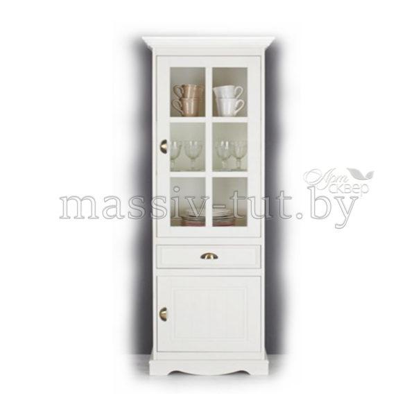 Шкаф с витриной Клаудиа Д7112-14, АртСквер, массив, мебель