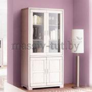 Шкаф с витриной Мэдисон Д1148, АртСквер, массив, мебель 2