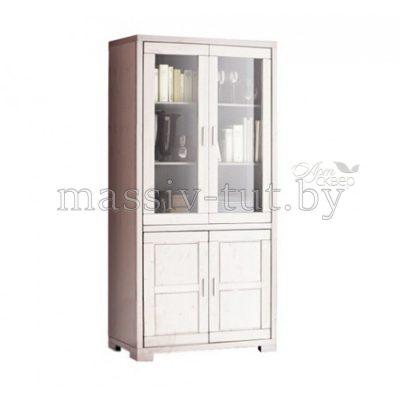 """Шкаф с витриной """"Мэдисон"""" Д1148 из массива сосны"""