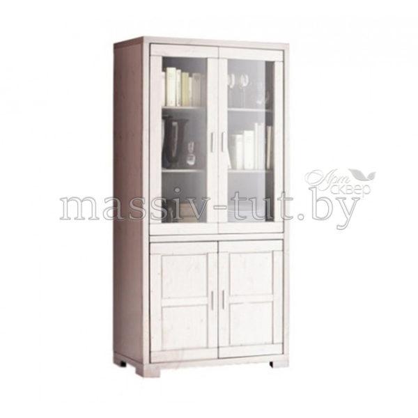 Шкаф с витриной Мэдисон Д1148, АртСквер, массив, мебель