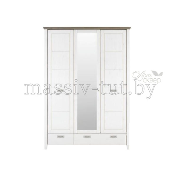 Шкаф 3-хдверный Саргас Д7146-2, АртСквер, массив, мебель