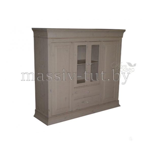 Шкаф для посуды Бостон А 1М, гостиная, массив, АртСквер, столовая