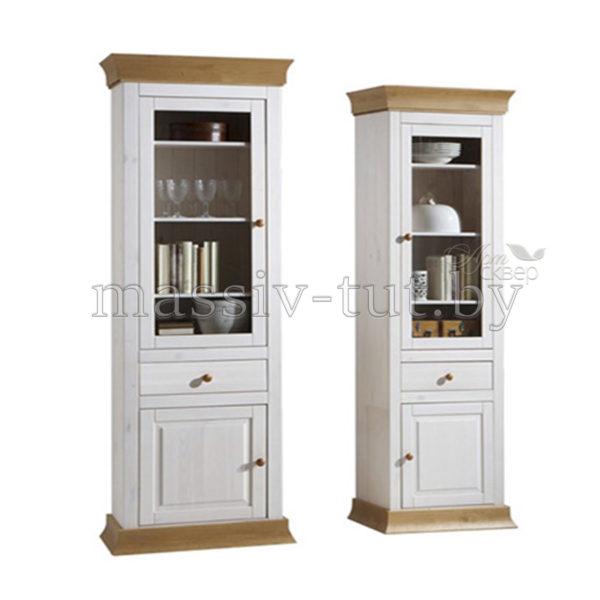 Шкаф для посуды Бостон G, гостиная, столовая, Артсквер, массив, мебель