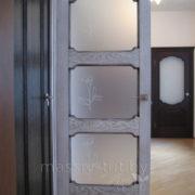д7-3 дверь межкомнатная Итальянская легенда ПМЦ остекленная