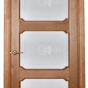 ол7-3 дверь остекленная ПМЦ коньяк
