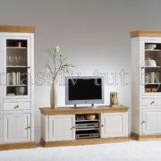 Шкаф для посуды Бостон G, гостиная, столовая, Артсквер, массив, мебель 1