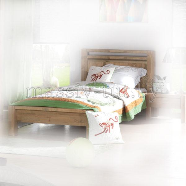 Кровать Фьорд 90, АртСквер, массив, мебель, детская