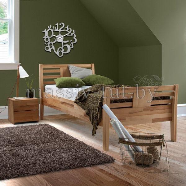 Кровать из массива дуба «Тамара» 160х200 АртСквер 5